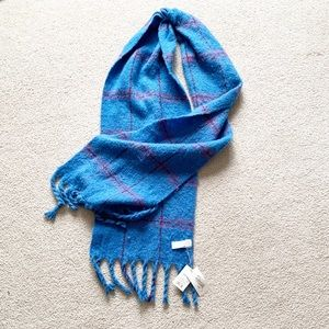 A New Day Brushed Woven Large Blue Blanket Scarf